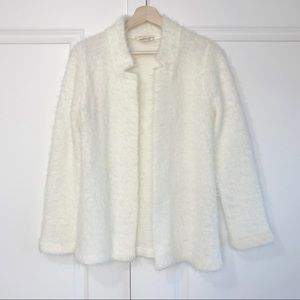Vintage fluffy cream cardigan